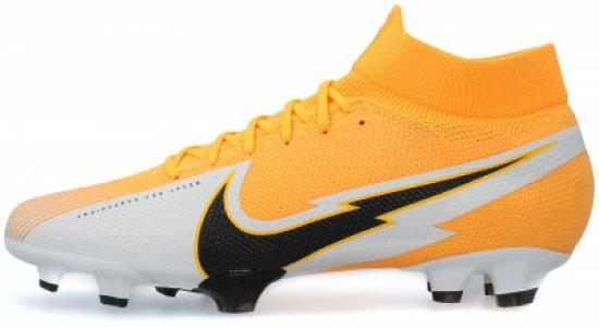 Бутсы мужские Superfly 7 Pro FG, размер 42 Nike. Цвет: оранжевый