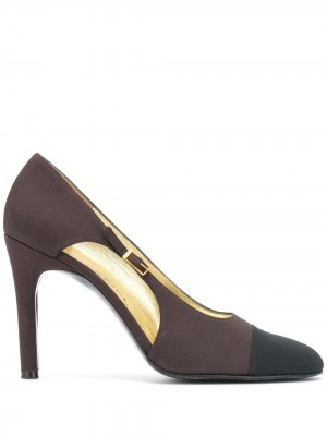 Туфли-лодочки с закругленным носком Chanel Pre-Owned. Цвет: коричневый