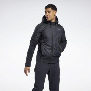 Утепленная куртка Outerwear rmowarm+Graphene Reebok. Цвет: black