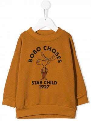 Толстовка с логотипом Bobo Choses. Цвет: желтый