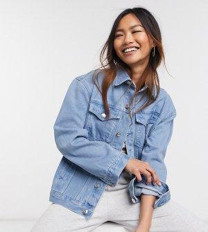 Светлая джинсовая куртка свободного кроя Wednesdays Girl-Голубой Wednesday's Girl