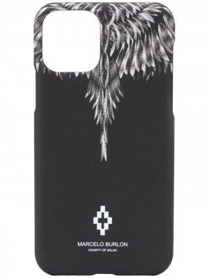 Чехол Wings для iPhone 11 Marcelo Burlon County of Milan. Цвет: черный