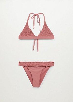 Фактурное бикини со сборками - Alina Mango. Цвет: средний розовый