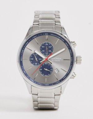 Серебристые часы-браслет с серебристым циферблатом -Серебряный Sekonda