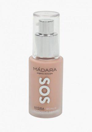 Сыворотка для лица Madara SOS, увлажняющая, восстанавливающая, с экстрактами пиона, 30 мл.. Цвет: прозрачный