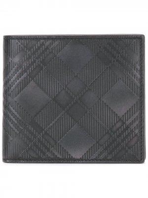 Тисненый клетчатый кошелек Thom Browne. Цвет: черный