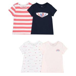 4 футболки LaRedoute. Цвет: синий