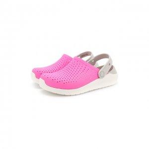 Сабо LiteRide Clog K Crocs. Цвет: розовый