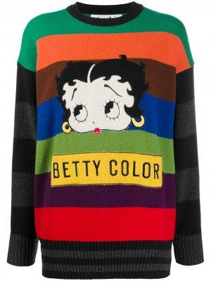 Джемпер Betty Boop 1989-го года JC de Castelbajac Pre-Owned. Цвет: зеленый