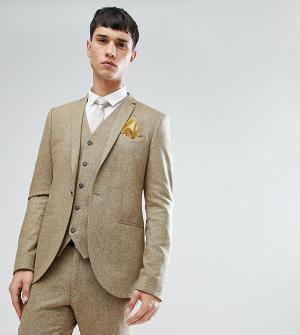 Приталенный пиджак в крапинку Tall-Светло-бежевый Noak