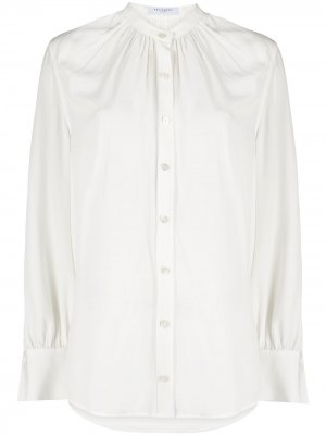 Рубашка со сборками Equipment. Цвет: белый