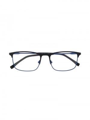 Очки в квадратной оправе Lacoste. Цвет: синий
