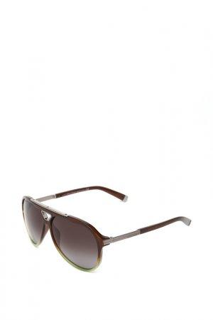 Очки солнцезащитные с линзами DSQUARED. Цвет: 50b коричневый, зеленый, серый