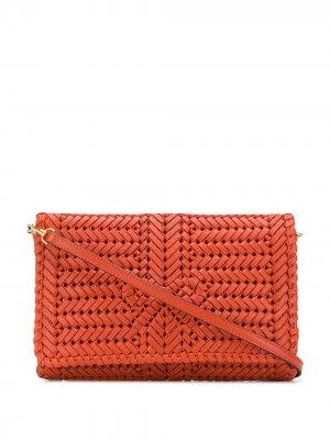 Плетеная сумка через плечо Anya Hindmarch. Цвет: оранжевый