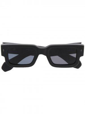 Солнцезащитные очки Ascari в прямоугольной оправе Jacques Marie Mage. Цвет: черный