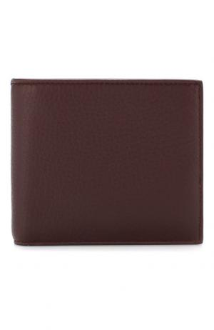 Кожаное портмоне с отделением для кредитных карт и монет Smythson. Цвет: бордовый