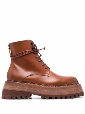 Ботинки дезерты Quadrarmato Marsèll. Цвет: коричневый