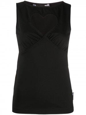 Блузка с вырезом в форме сердца Love Moschino. Цвет: черный