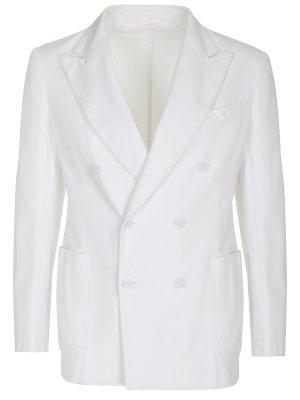Пиджак двубортный хлопковый JERRY KEY