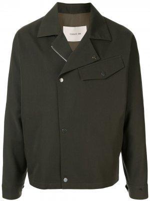 Легкая куртка свободного кроя Cerruti 1881. Цвет: зеленый