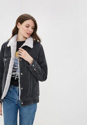 Куртка джинсовая Dasti. Цвет: серый