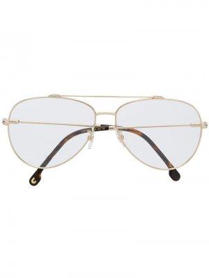 Солнцезащитные очки-авиаторы в оправе Carrera. Цвет: золотистый