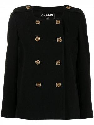 Бушлат с декорированными пуговицами Chanel Pre-Owned. Цвет: черный