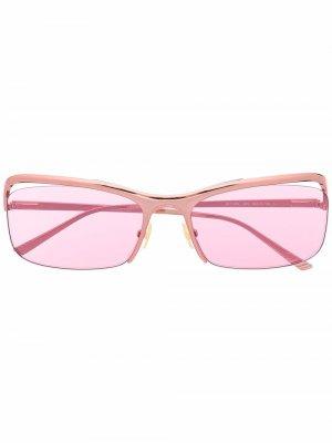 Солнцезащитные очки в квадратной оправе Bottega Veneta Eyewear. Цвет: розовый