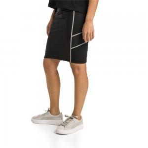 Юбка TZ Skirt PUMA. Цвет: черный