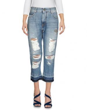Джинсовые брюки-капри MARCELO BURLON. Цвет: синий