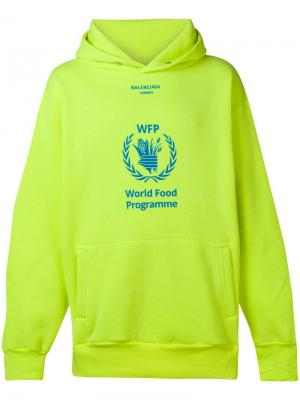 Худи World Food Programme Balenciaga. Цвет: желтый
