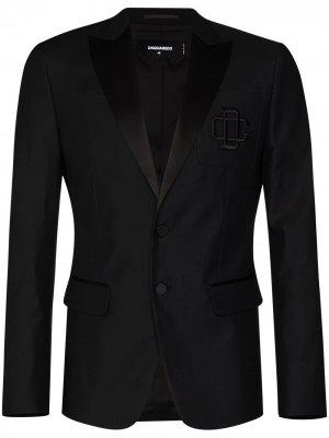 Пиджак с вышитым логотипом Dsquared2. Цвет: черный