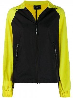 Спортивная куртка в стиле колор-блок John Richmond. Цвет: черный