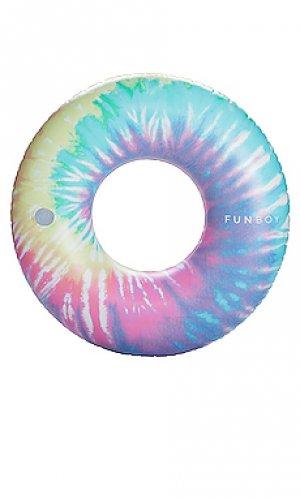 Надувной матрас tie dye FUNBOY. Цвет: розовый