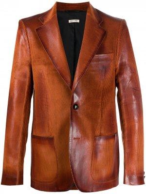 Пиджак с эффектом потертости Marni. Цвет: оранжевый