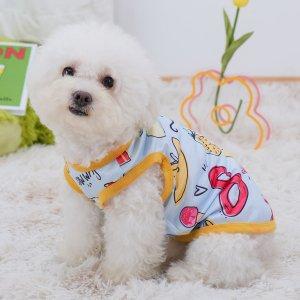 Майка для домашних животных с мультипликационным узором SHEIN. Цвет: многоцветный