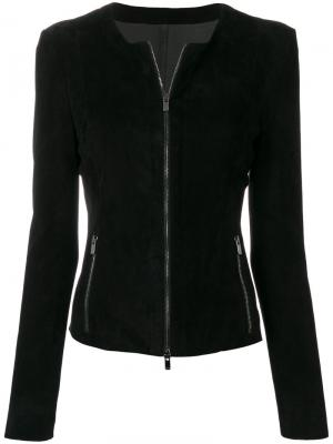 Zipped leather jacket Drome. Цвет: чёрный