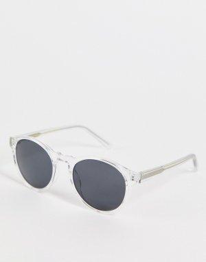 Круглые солнцезащитные очки в стиле унисекс с прозрачной оправой Marvin-Прозрачный A.Kjaerbede