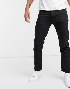 Черные прямые джинсы -Черный Topman
