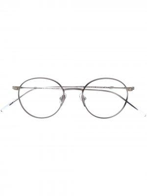 Switchable lens round frame sunglasses Snob. Цвет: черный