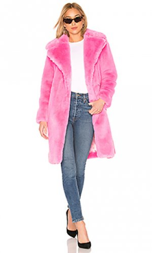 Пальто riley MILLY. Цвет: розовый