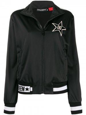 Куртка-бомбер DG Queen Dolce & Gabbana. Цвет: черный