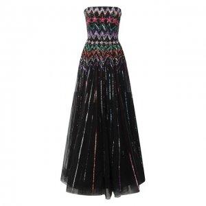 Платье с пайетками Jenny Packham. Цвет: чёрный