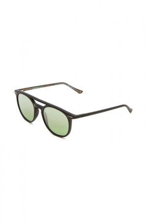 Очки солнцезащитные с линзами Italia Independent. Цвет: 009 btt черный, оливковый