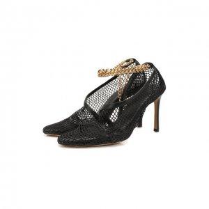 Текстильные туфли New Mesh Bottega Veneta. Цвет: чёрный