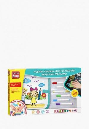 Набор для творчества Росмэн Коврик-книжка рисования водными мелками. TM Let`s Play. Цвет: разноцветный