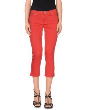 Джинсовые брюки-капри GLAM CRISTINAEFFE. Цвет: красный