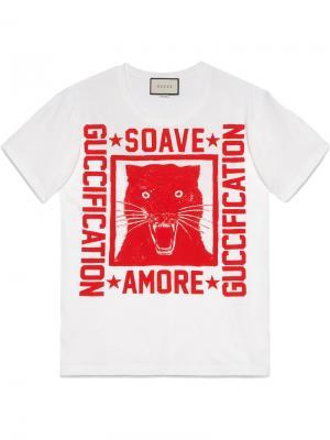 Футболка с принтом Soave Amore Guccification