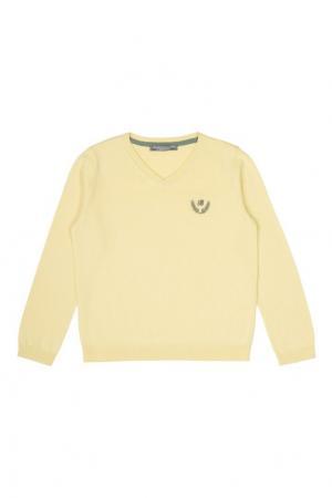 Хлопковый пуловер Bonpoint. Цвет: желтый