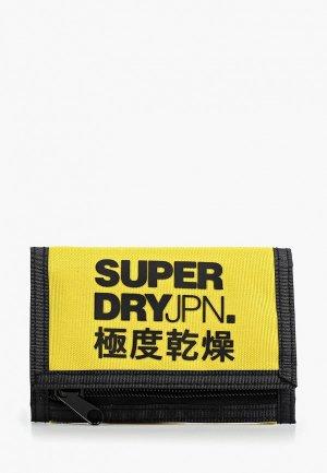 Кошелек Superdry. Цвет: желтый